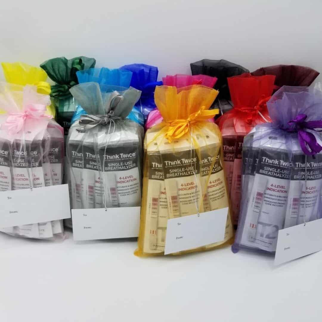 Think Twice Single-Use Breathalyzer Gift Bags